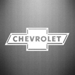 Наклейка Chevrolet Logo Small - FatLine
