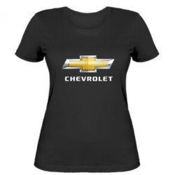 Женская футболка Chevrolet Logo - FatLine