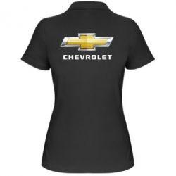 Женская футболка поло Chevrolet Logo - FatLine