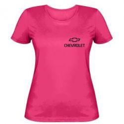 Женская футболка Chevrolet Small - FatLine