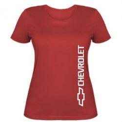 Женская футболка Chevrolet Vert - FatLine