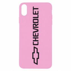Чехол для iPhone X/Xs Chevrolet  Vert