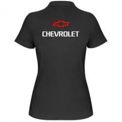 Женская футболка поло CHEVROLET - FatLine