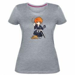 Женская стрейчевая футболка Chibi Kurosaki Ichigo Bleach
