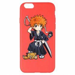 Чехол для iPhone 6 Plus/6S Plus Chibi Kurosaki Ichigo Bleach