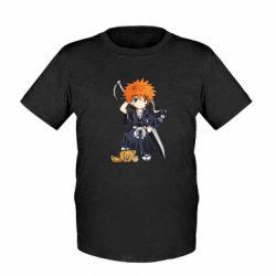 Детская футболка Chibi Kurosaki Ichigo Bleach