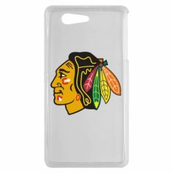 Чехол для Sony Xperia Z3 mini Chicago Black Hawks - FatLine