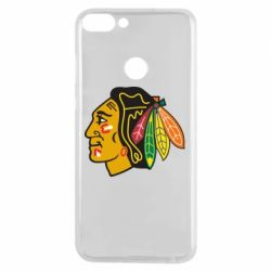 Чехол для Huawei P Smart Chicago Black Hawks - FatLine