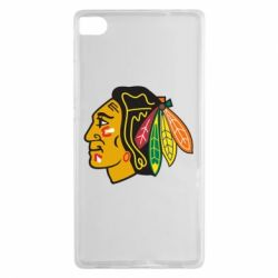 Чехол для Huawei P8 Chicago Black Hawks - FatLine