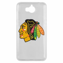 Чехол для Huawei Y5 2017 Chicago Black Hawks - FatLine