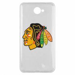 Чехол для Huawei Y7 2017 Chicago Black Hawks - FatLine