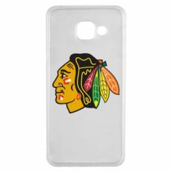 Чехол для Samsung A3 2016 Chicago Black Hawks - FatLine