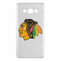 Чехол для Samsung A7 2015 Chicago Black Hawks - FatLine