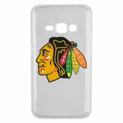 Чехол для Samsung J1 2016 Chicago Black Hawks - FatLine