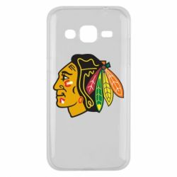 Чехол для Samsung J2 2015 Chicago Black Hawks - FatLine