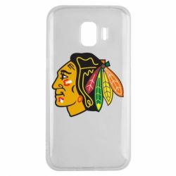 Чехол для Samsung J2 2018 Chicago Black Hawks - FatLine