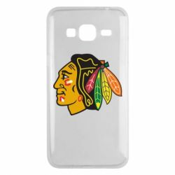 Чехол для Samsung J3 2016 Chicago Black Hawks - FatLine