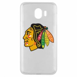 Чехол для Samsung J4 Chicago Black Hawks - FatLine