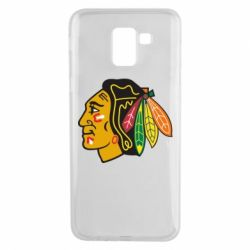 Чехол для Samsung J6 Chicago Black Hawks - FatLine