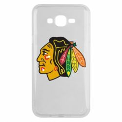 Чехол для Samsung J7 2015 Chicago Black Hawks - FatLine