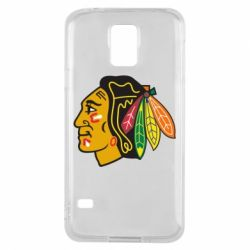 Чехол для Samsung S5 Chicago Black Hawks - FatLine