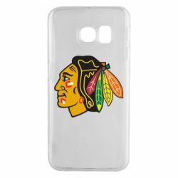 Чехол для Samsung S6 EDGE Chicago Black Hawks - FatLine