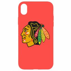 Чехол для iPhone XR Chicago Black Hawks - FatLine