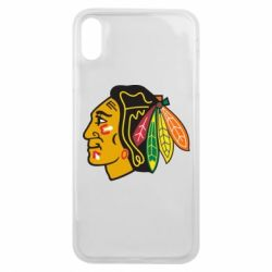 Чехол для iPhone Xs Max Chicago Black Hawks - FatLine