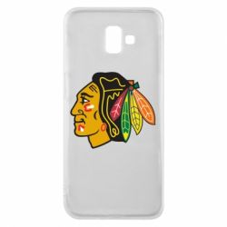 Чехол для Samsung J6 Plus 2018 Chicago Black Hawks - FatLine