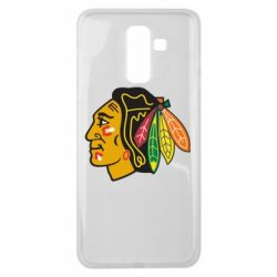 Чехол для Samsung J8 2018 Chicago Black Hawks - FatLine