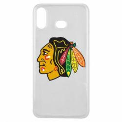Чехол для Samsung A6s Chicago Black Hawks - FatLine