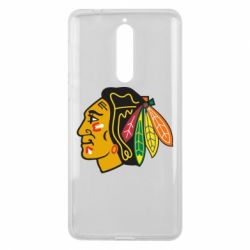 Чехол для Nokia 8 Chicago Black Hawks - FatLine