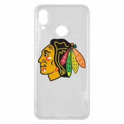 Чехол для Huawei P Smart Plus Chicago Black Hawks - FatLine