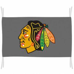 Флаг Chicago Black Hawks
