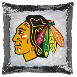 Подушка-хамелеон Chicago Black Hawks
