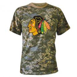 Камуфляжная футболка Chicago Black Hawks - FatLine