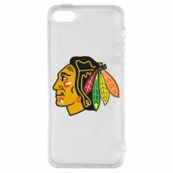 Чехол для iPhone5/5S/SE Chicago Black Hawks - FatLine