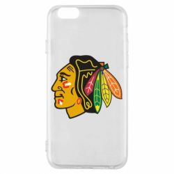 Чехол для iPhone 6/6S Chicago Black Hawks - FatLine