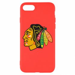 Чехол для iPhone 8 Chicago Black Hawks - FatLine