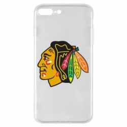 Чехол для iPhone 8 Plus Chicago Black Hawks - FatLine