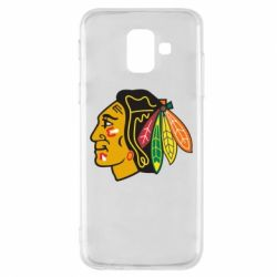 Чехол для Samsung A6 2018 Chicago Black Hawks - FatLine