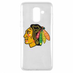 Чехол для Samsung A6+ 2018 Chicago Black Hawks - FatLine