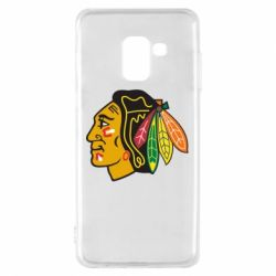 Чехол для Samsung A8 2018 Chicago Black Hawks - FatLine