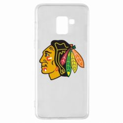 Чехол для Samsung A8+ 2018 Chicago Black Hawks - FatLine