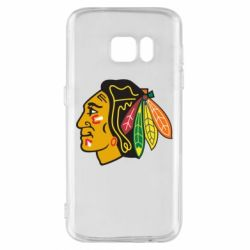 Чехол для Samsung S7 Chicago Black Hawks - FatLine