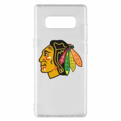 Чехол для Samsung Note 8 Chicago Black Hawks - FatLine