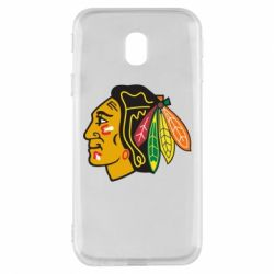 Чехол для Samsung J3 2017 Chicago Black Hawks - FatLine