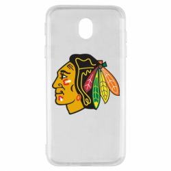 Чехол для Samsung J7 2017 Chicago Black Hawks - FatLine