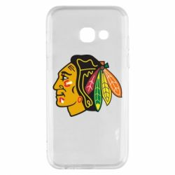 Чехол для Samsung A3 2017 Chicago Black Hawks - FatLine