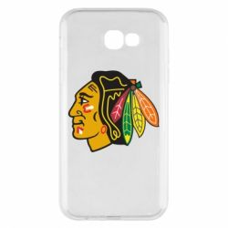 Чехол для Samsung A7 2017 Chicago Black Hawks - FatLine